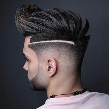 Blow Dry Pompadour with Sharp Parting