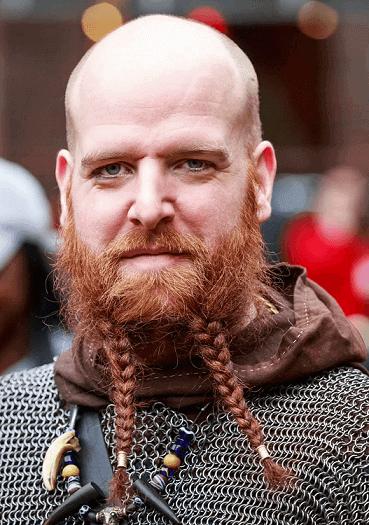 Fancy golden brown beard