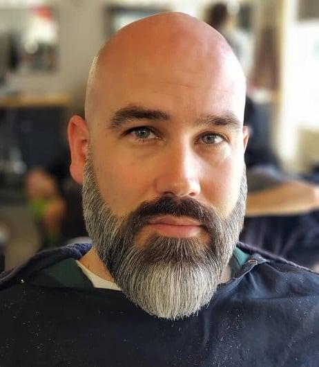 Neat and full beard