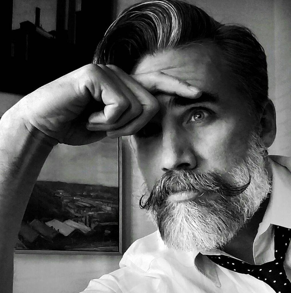 13 handlebar mustache