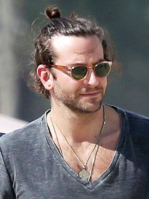 Messy top knot for men:
