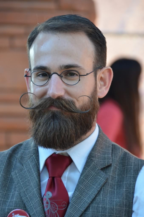 Distinguished Handlebar Mustache and Beard
