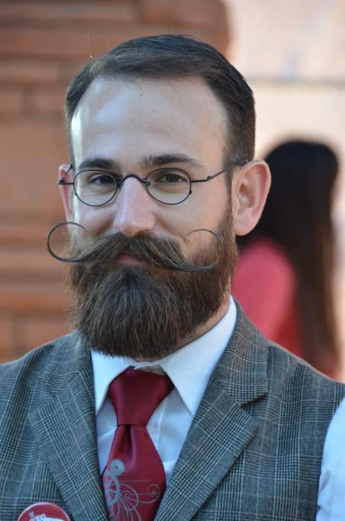 Distinguished Handlebar Mustache and Beard