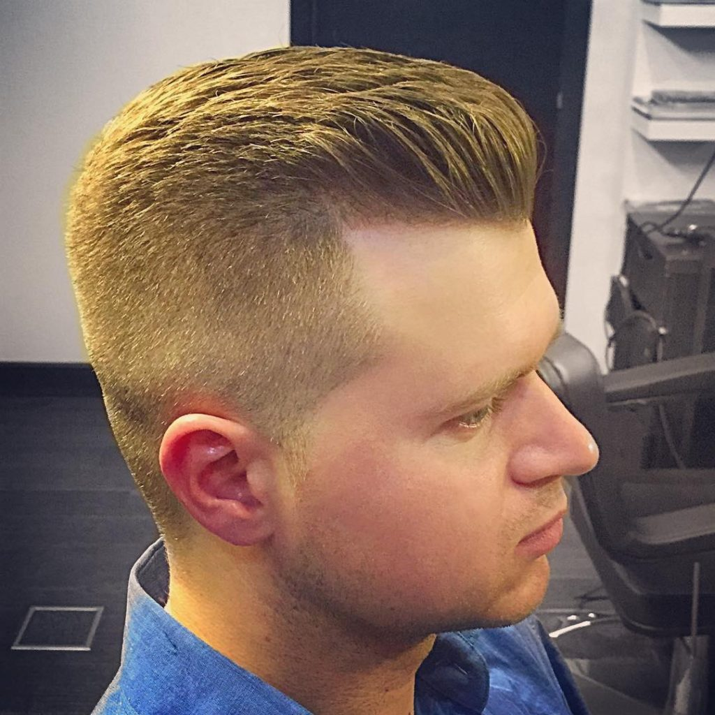Layered quiff with undercut sides