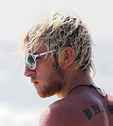 Messy Surfer Hairstyle