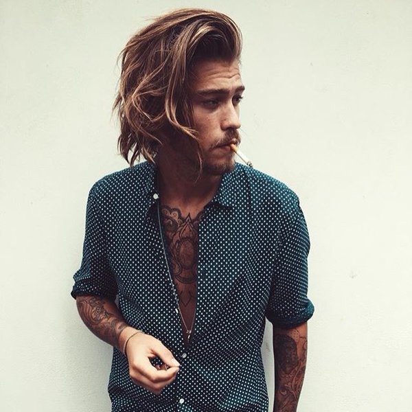 Side Swept Surfer Hairstyle