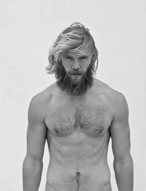 Long Surfer Hairstyle with Beard