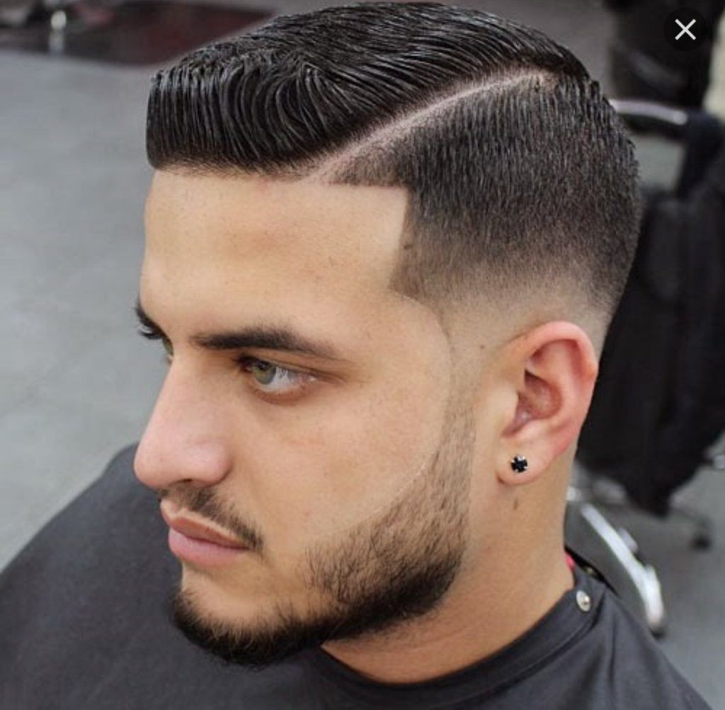 Geometrical Cut with Short Beard