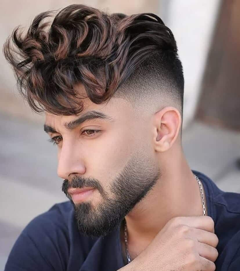 Disconnected Undercut with Long Curly Fringe
