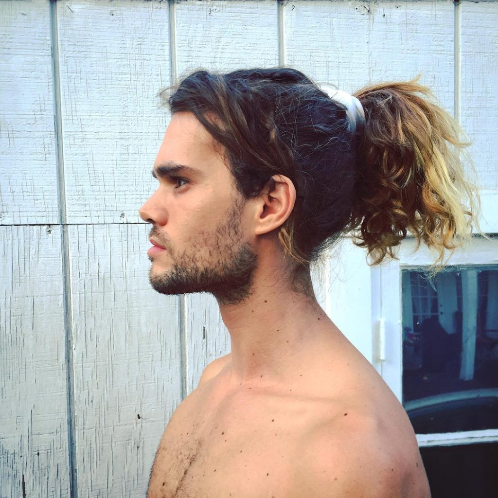 Men Ponytail With Side Part