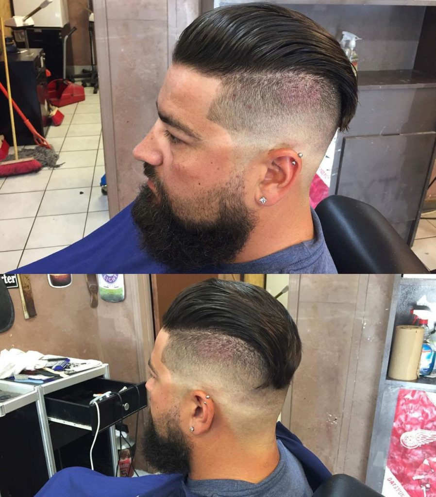 Pomp with Bald Faded Sides