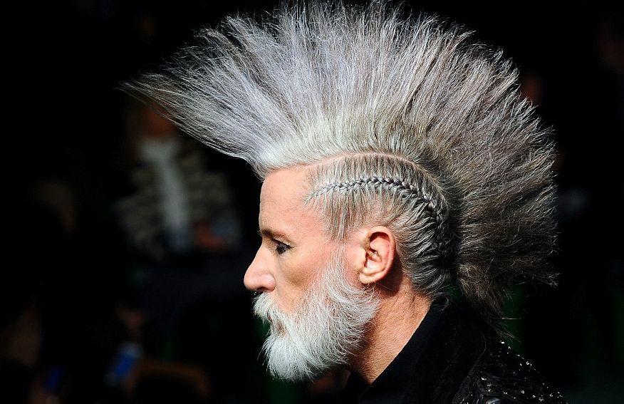 Mohawk Punk Style for Older Men