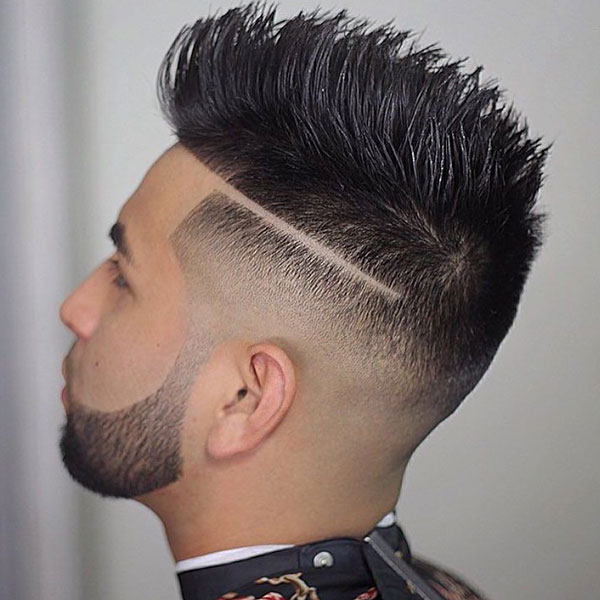 Line Haircut with Spikes