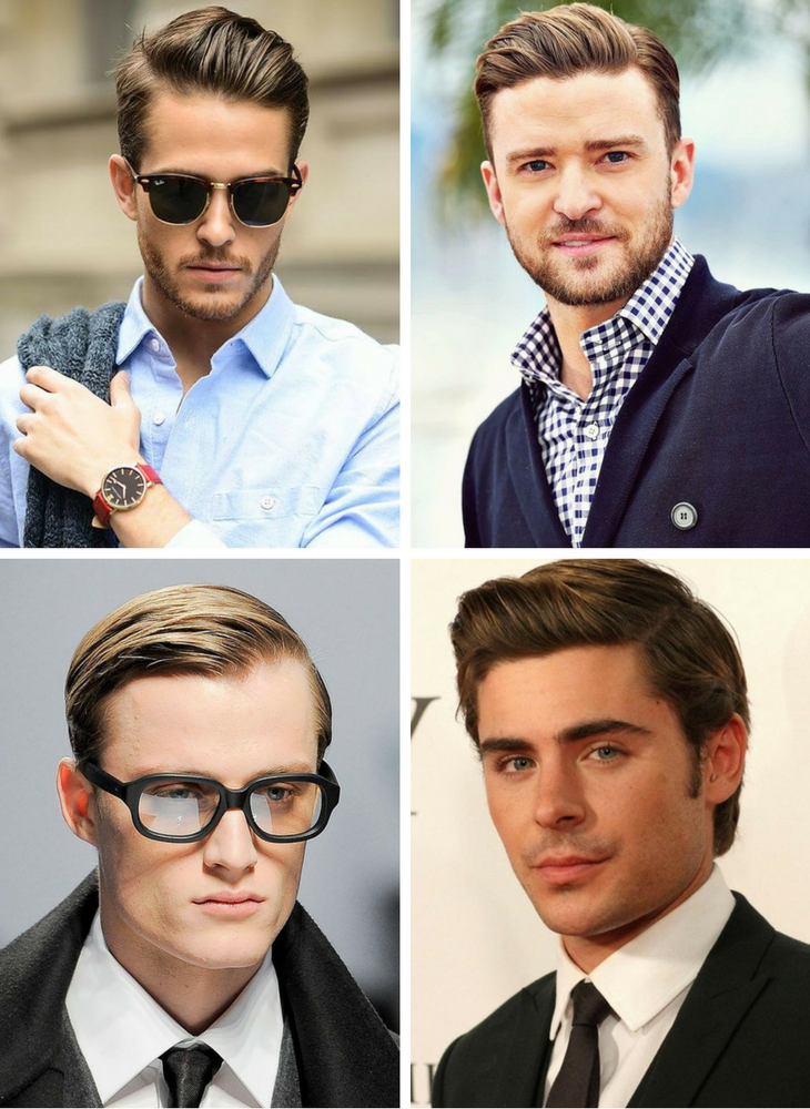 Slick Back Side Part Hairstyles