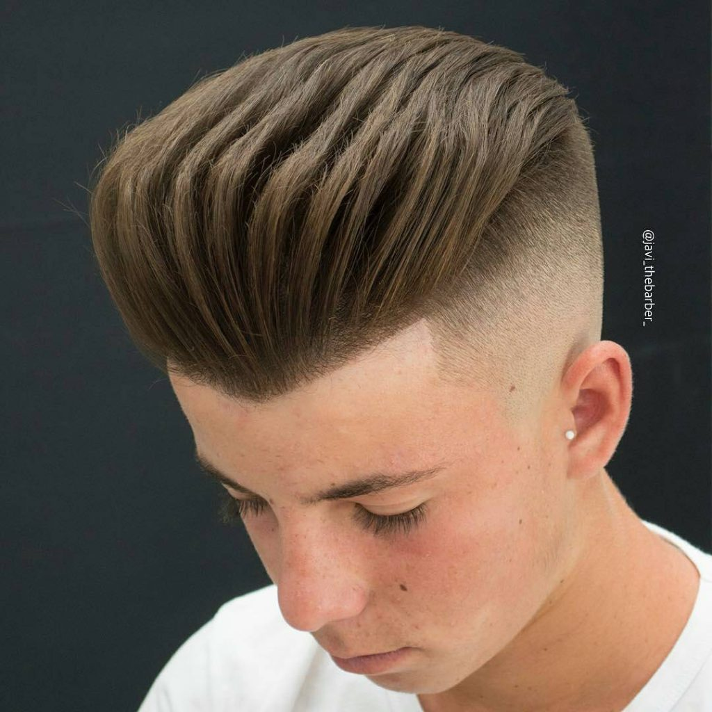 Shaved Head Fade with Comb Over