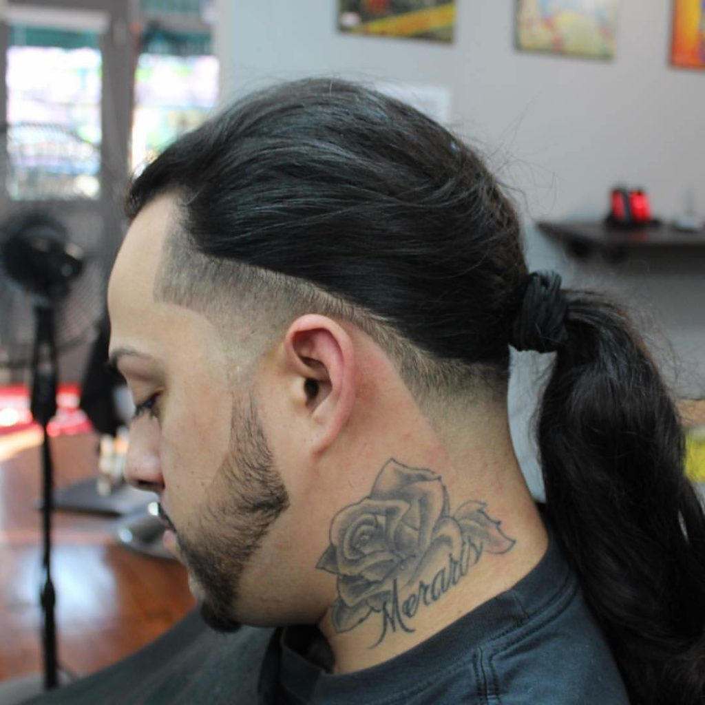 Skin Fade with Long Hair