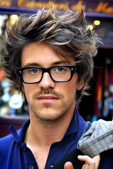 6273e38511 If you need to add volume to your hair to match the hairstyle with glasses  for guys