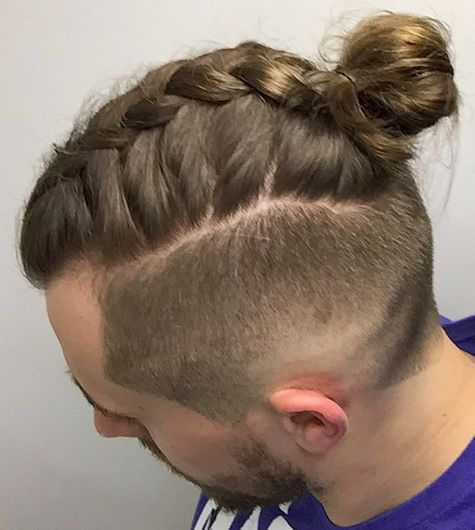 Top Bun with Braided Side