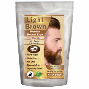 Light Brown Henna Beard Dye for Men