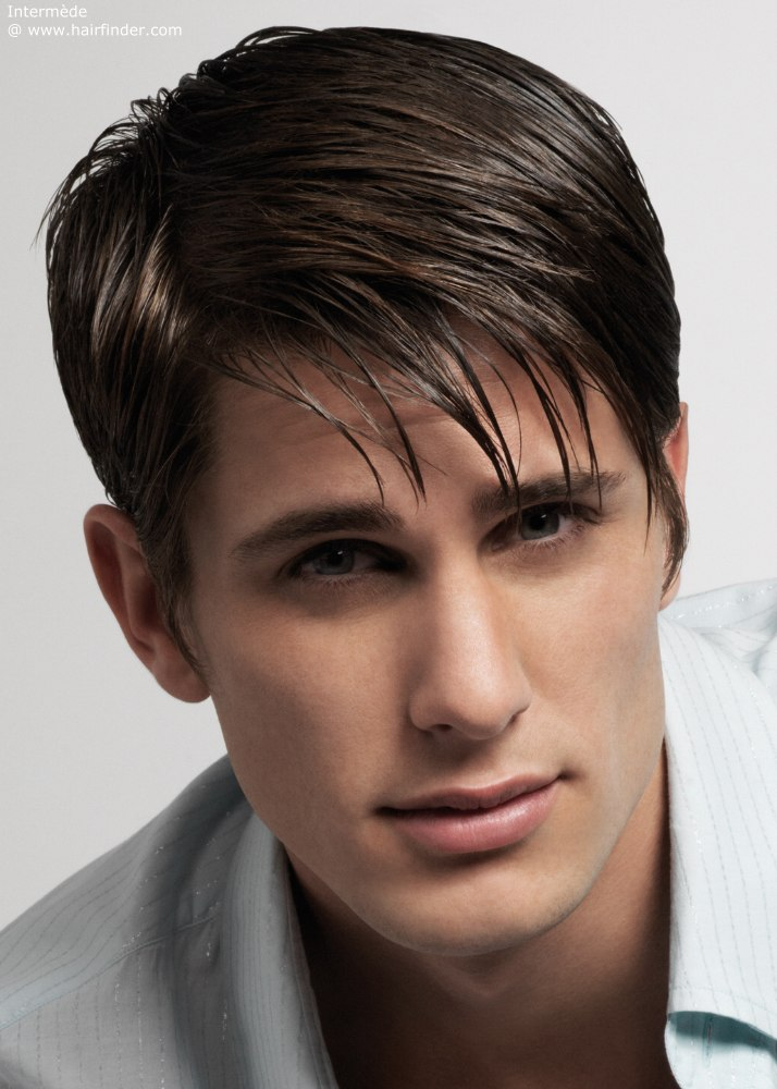 Straight Hair Hairstyles For Men With Straight And