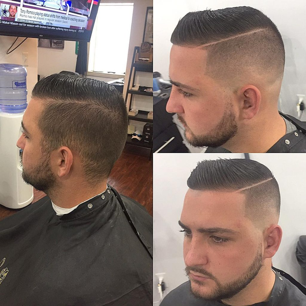 Side Part With Professional Skin Fade