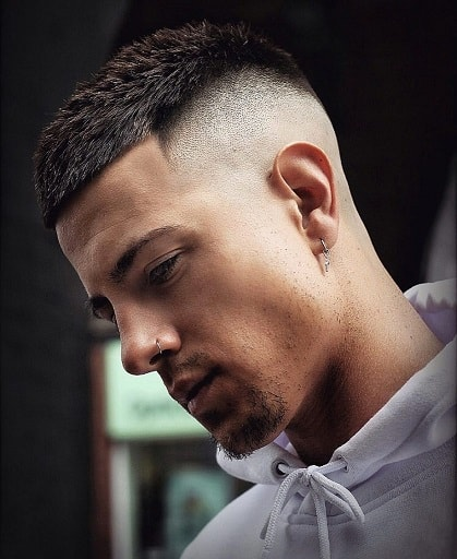 Cropped Hair with Bald Fade