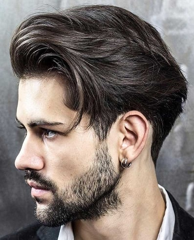Slicked Back with Long Quiff