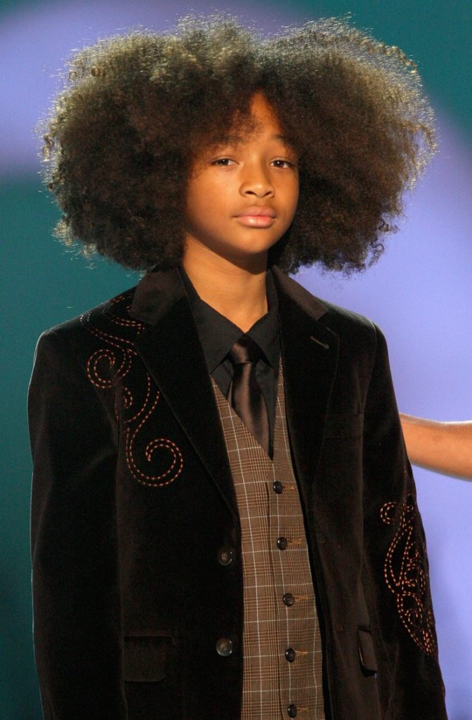 The Curly Afro Hairstyle At An Early Stage
