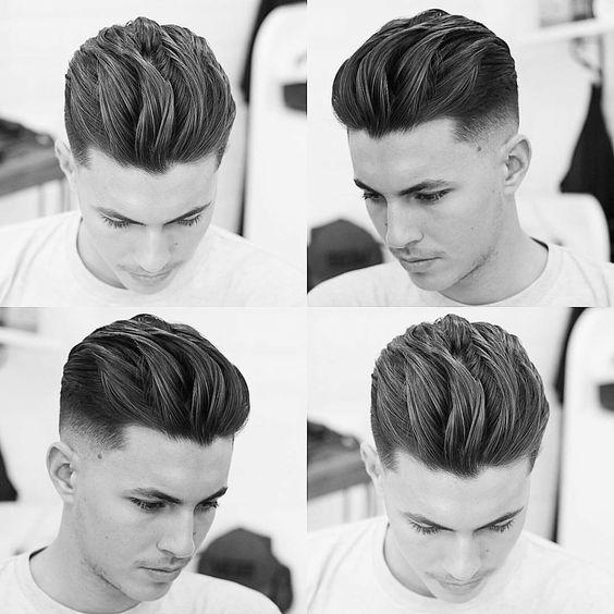 Textured long hair and a mid fade