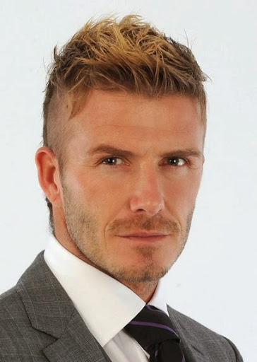 This Mens Haircut Short On Sides Is The David Beckham Hairstyle Where The  Hair On The Top Is Kept Longer And A Little Ruffled And The Back And The  Sides Cut ...