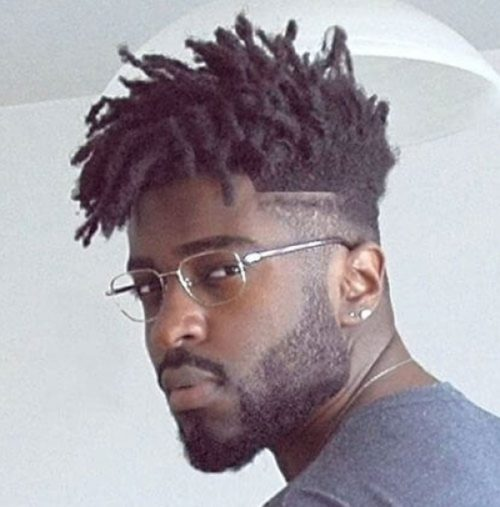 Mid fade with dreads