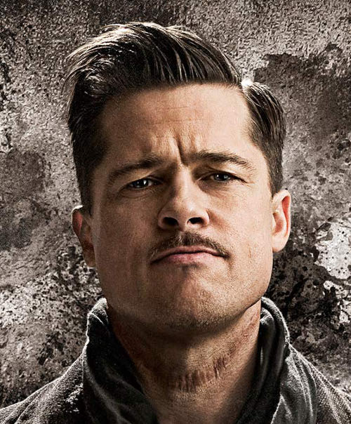 The Inglorious Basterds Brad Pitt Hairstyle