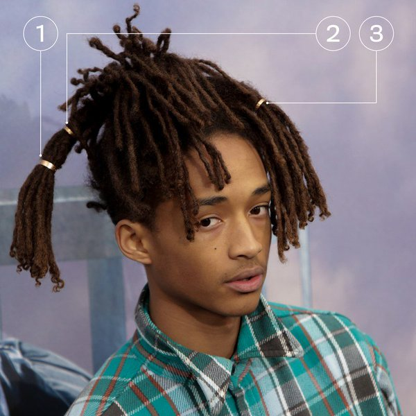 The Hair Tiers into Locks by Jaden