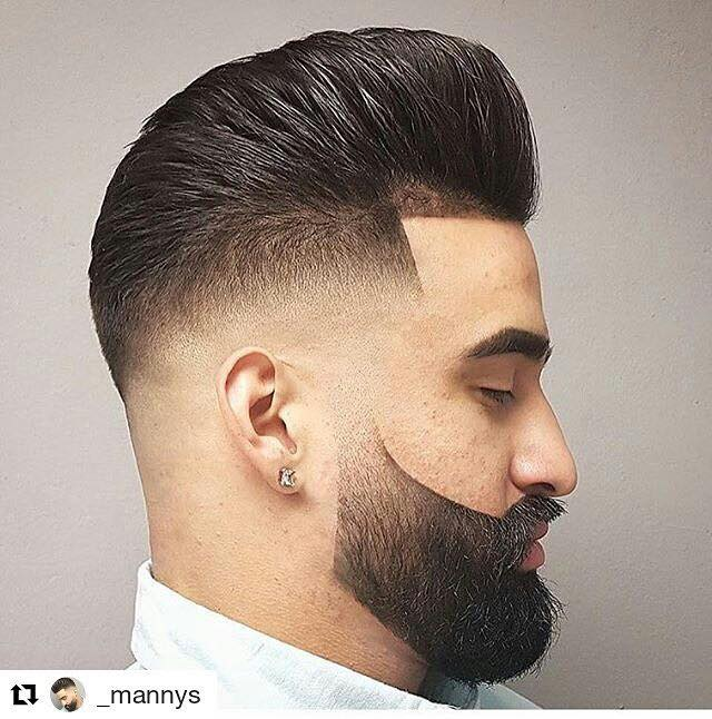 20 best pompadour fade haircut what is it and how to style high pompadour with temp fade urmus Image collections