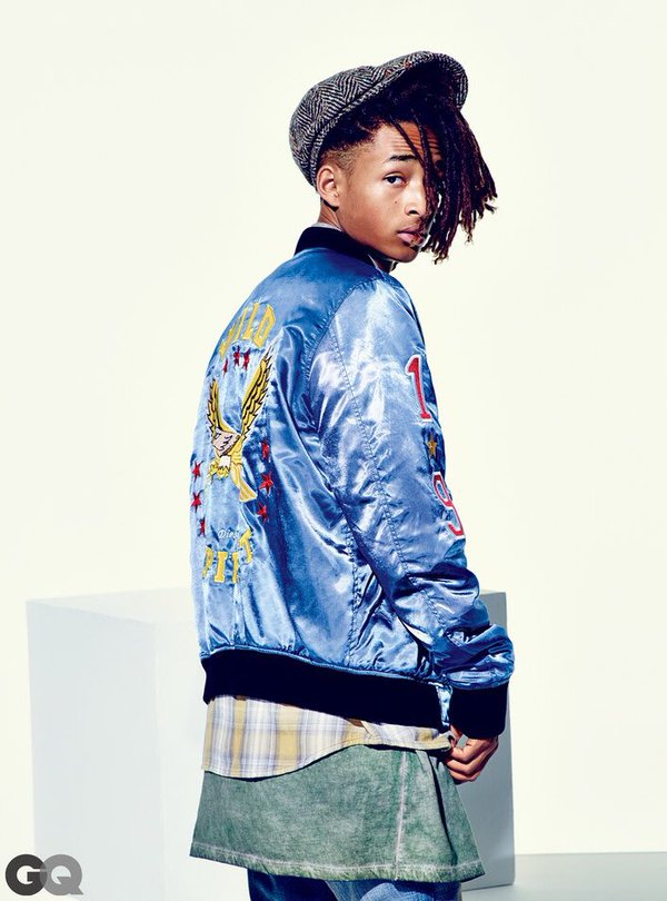 The tidy looking locks Jaden Smith style