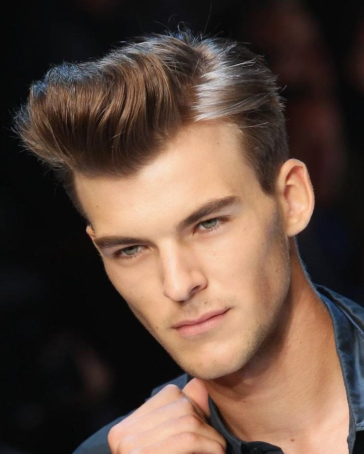 The Classic Pompadour for Your Widows Peak