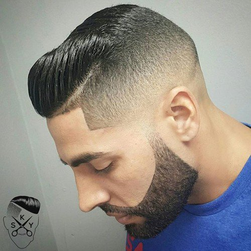 Short High Fade Haircut for Receding Hair