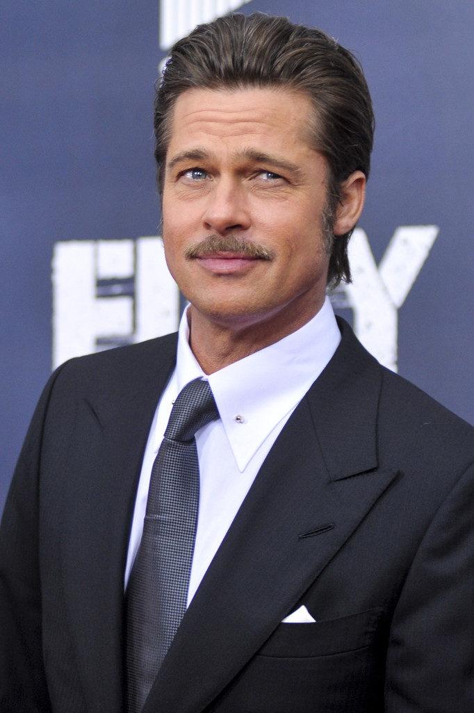 Unique Pompadour Brad Pitt Style