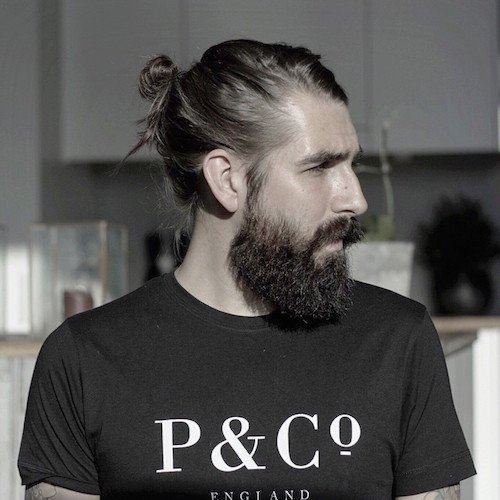 Man Bun with Beard a Masculine style