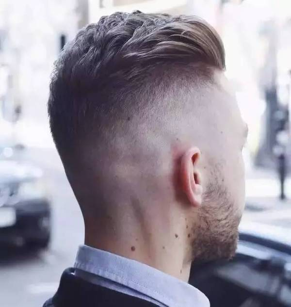 High fade with a back swept