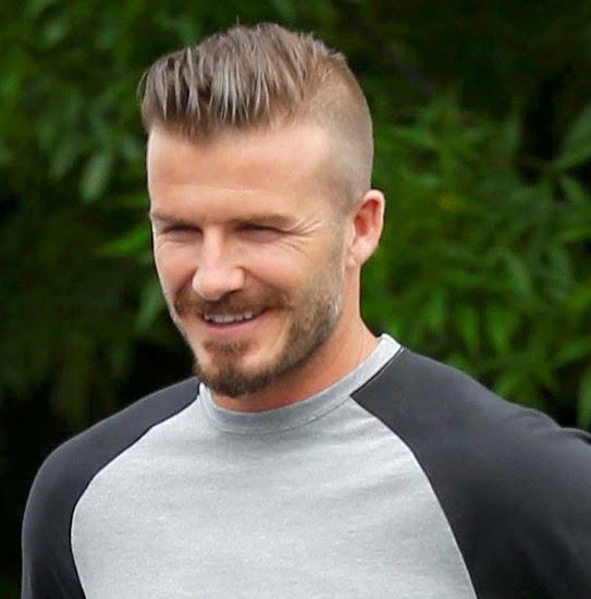 David Beckham's Pompadour fade