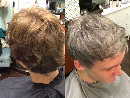 Short Gray Hairstyle for Guys