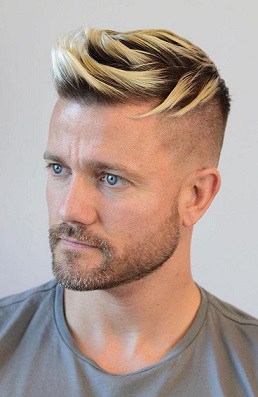 Blonde hair with spikes becoming trendy