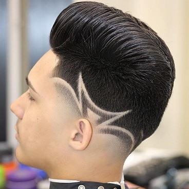 Comb over with designer low fade