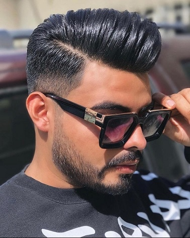Cool brushed up low fade