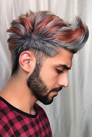 Cool long and trendy hair color