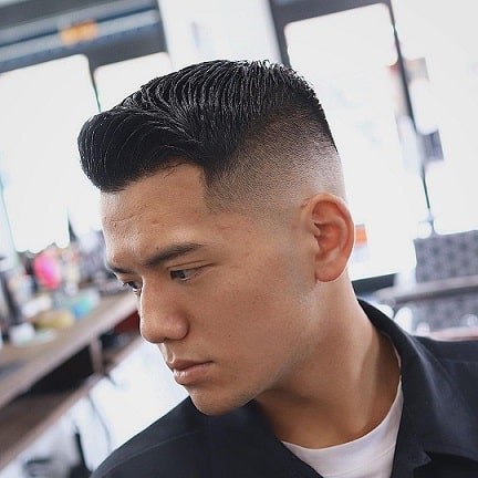 Cool low fade cut with glasses