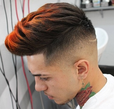 Dyed Hair with Spikes for Boys