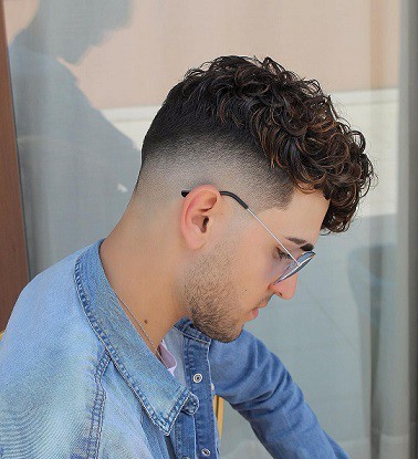 Low fade for curly hair