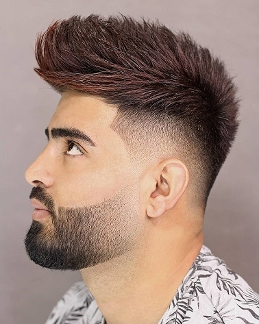 Messy low fade with long hair